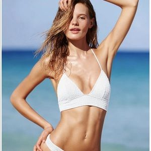 Victoria's Secret White Swim Bikini Top Small